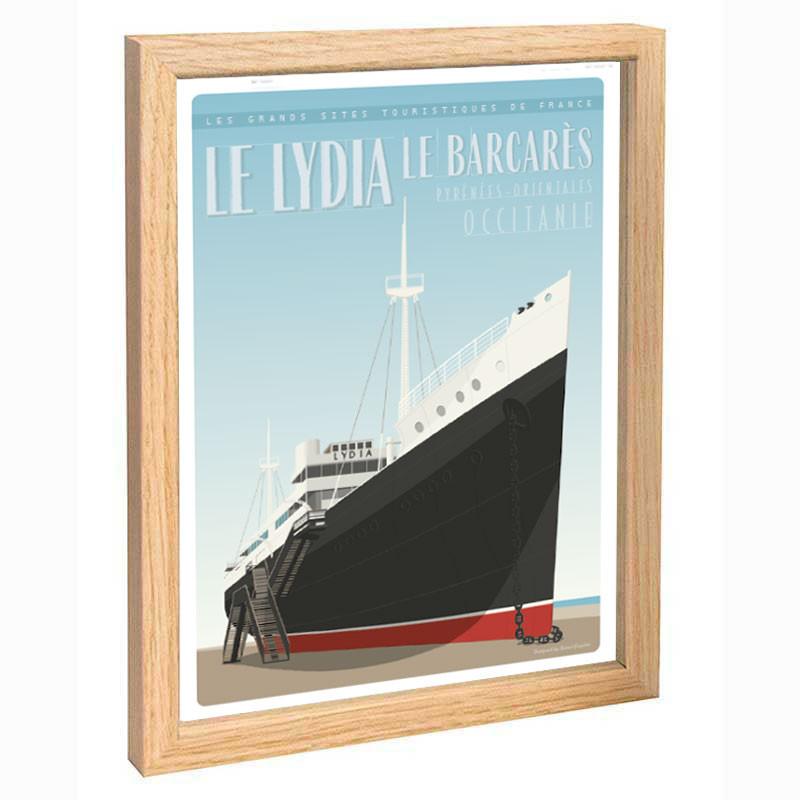 """ Le Lydia"", Travel poster vintage, 30x40"