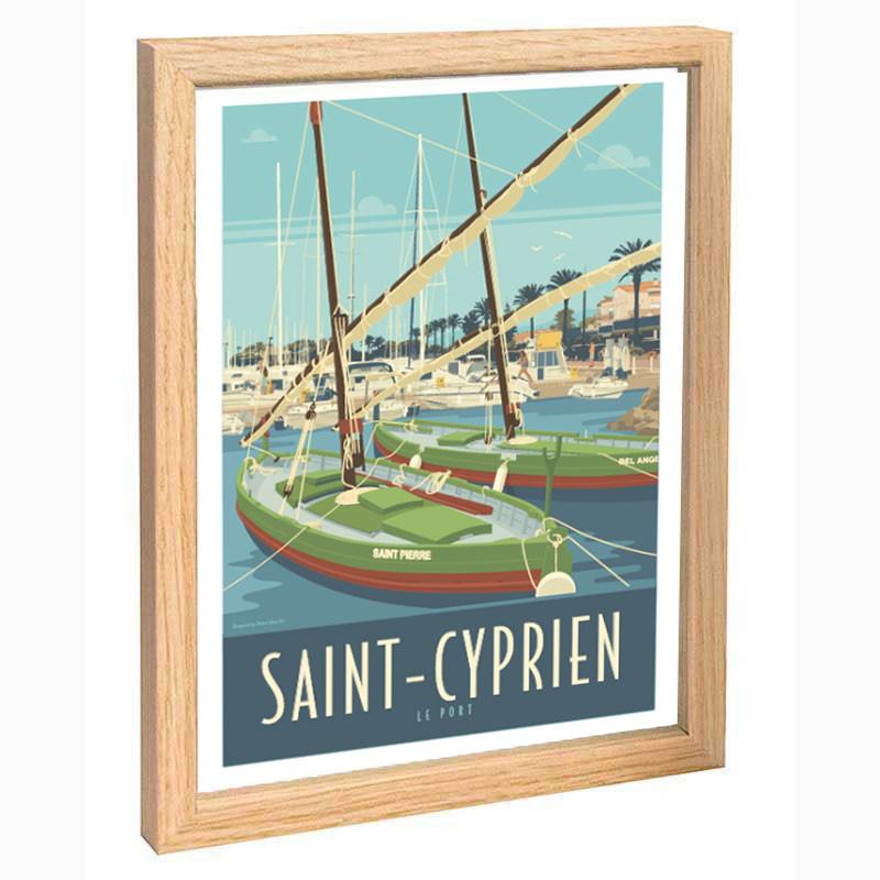 """Saint-cyprien"", Travel poster vintage, 30x40"