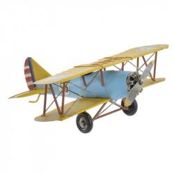"""Biplan bleu et jaune"",..."