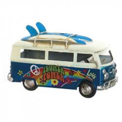 """"""" Van-combi bleu hippie"""", Véhicule déco métal vintage"""