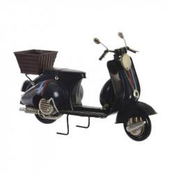 """"""" Vespa noir et panier"""", véhicule déco métal vintage"""