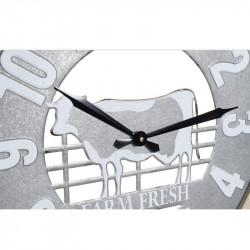 """""""Vache à la ferme"""", horloge murale design"""