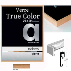 Cadre Nielsen photo - ALPHA TRUE COLOR placage bois véritable