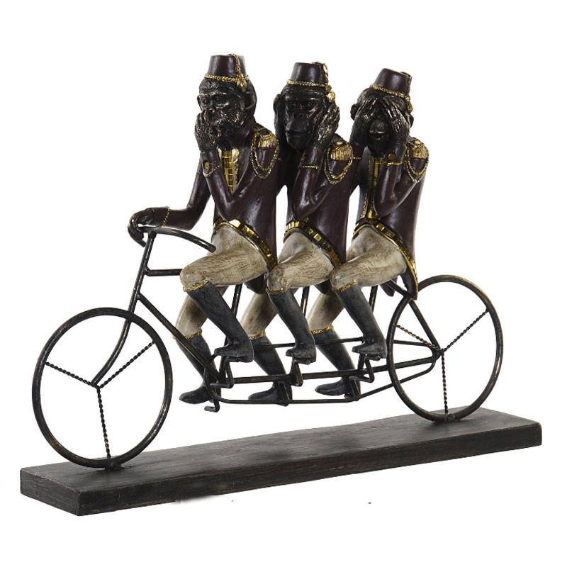 """""""Trio de singes : le secret du bonheur"""", statuette déco zen"""