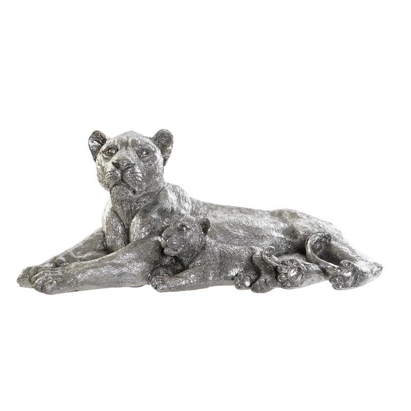 """"""" Lionne et son lionceau"""", statuette déco design"""