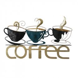 """"""" Tasses de café"""", déco murale métal, cuisine"""