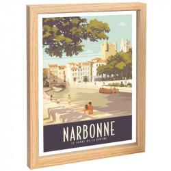 """ Narbonne"",Travel poster..."