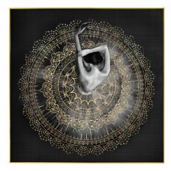 """"""" Femme robe napperon """", Tableau contemporain 80x80 cm"""