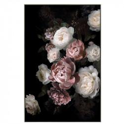 """"""" Pivoines rose et blanches"""", tableau contemporain floral 80x120cm"""