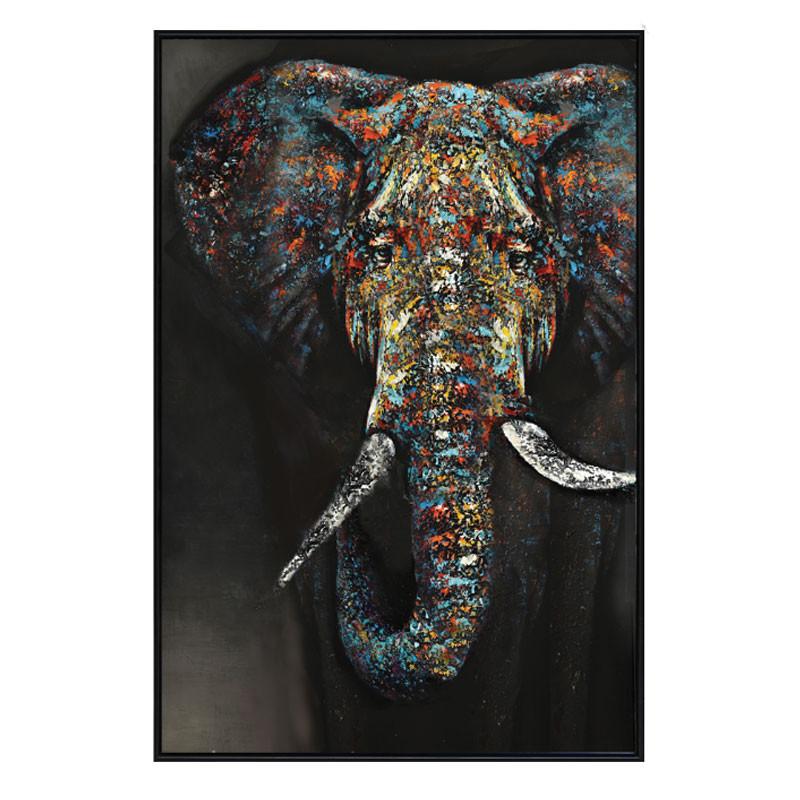 """"""" Eléphant pigment"""", Tableau contemporain,80x120."""