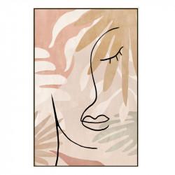 """ Visage de femme minimaliste "", tableau contemporain 60x90 cm"