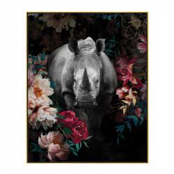 """"""" Rhinocéros décor fleuri..."""