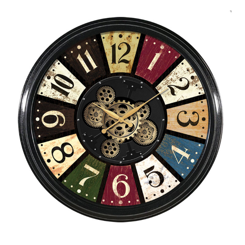 "Horloge murale design "" Casino "", engrenages"
