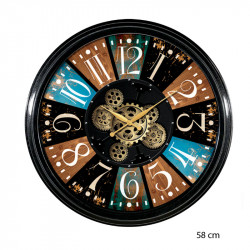 "Horloge murale design "" Casino 2 "", engrenages"