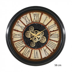 "Horloge murale design "" Vintage"", engrenages"