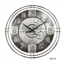 "Horloge design "" industrielle "" engrenages 60 cm"
