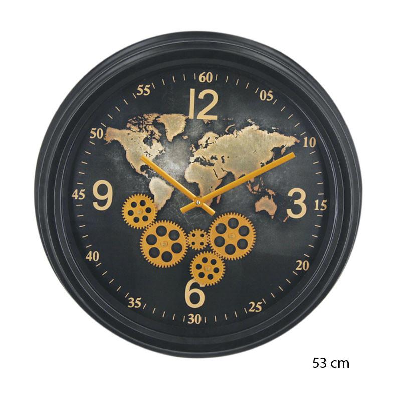 """horloge design """" mappemonde"""", engrenages mobiles"""
