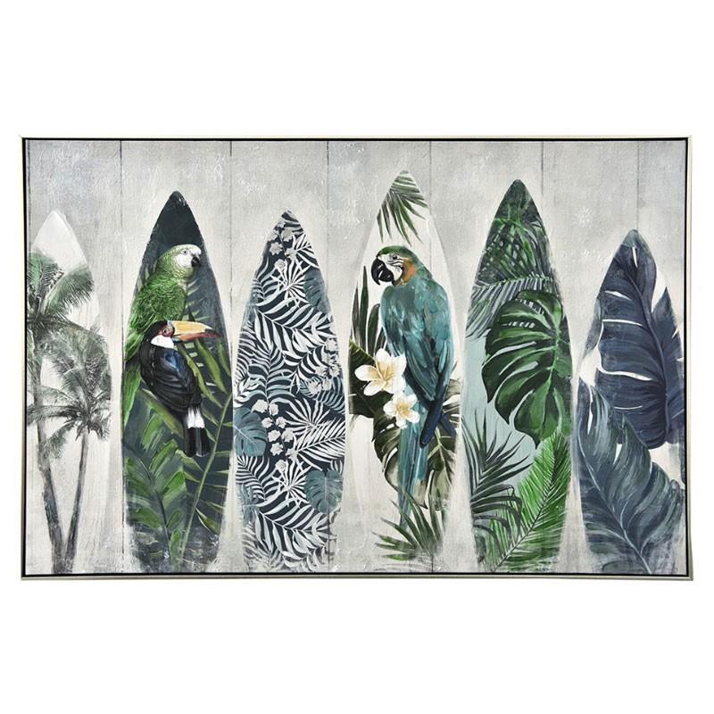 """"""" Planches de surf tropicales """", tableau contemporain,80x120"""
