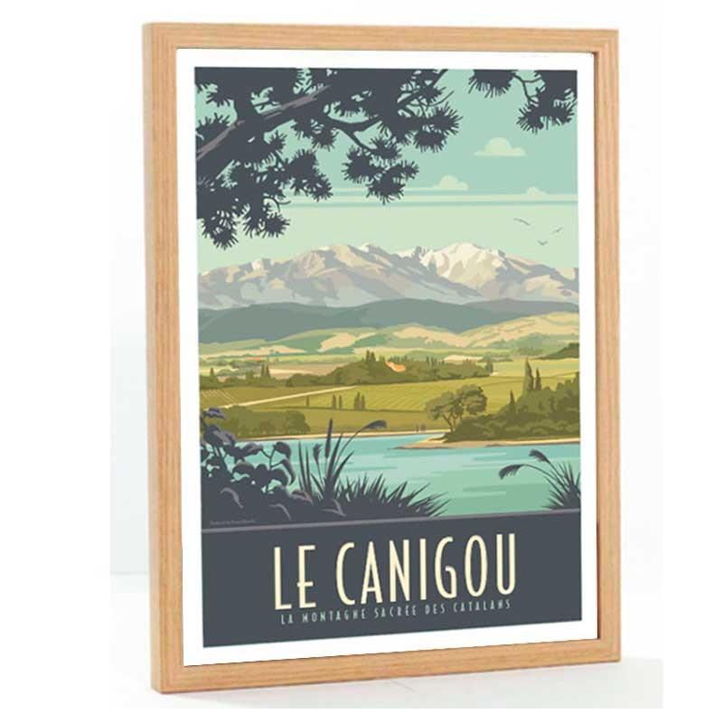 Canigou Travel poster 50x70 La montagne sacrée des Catalans