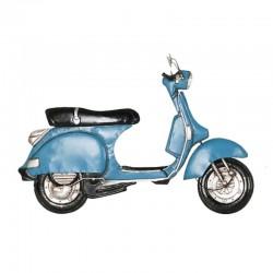 """""""scooter vespa bleu """", déco..."""