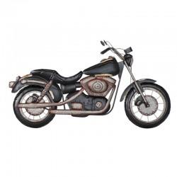 """""""Moto noire vieillie"""", déco..."""