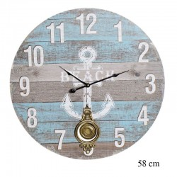 """ Horloge Ancre marine"",..."