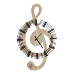 """Horloge design """" Clé de sol """""""