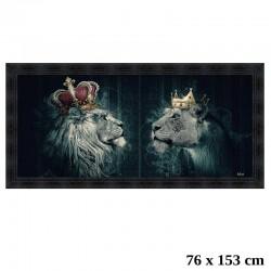 """""""Lions couronnes"""", 76 X 153..."""