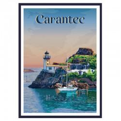 CARANTEC, Travel poster...