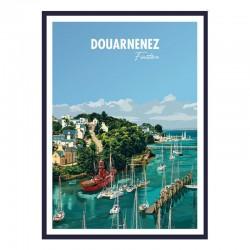 """Douarnenez"", Travel poster..."