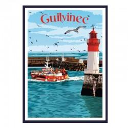 """Guilvinec"", Travel poster..."