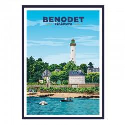 """""""BENODET"""", Travel poster..."""