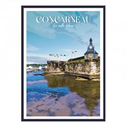 """Concarneau"", Travel poster..."
