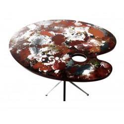 Table palette de peinture Beaux art