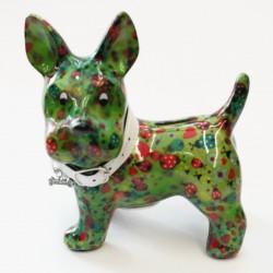 Tirelire design originale chien bleu tatoué sucettes