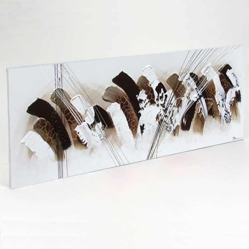Tableau dégradé chocolat contemporain 50x150