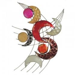 Décoration murale quart de lunes et cercles multicolores