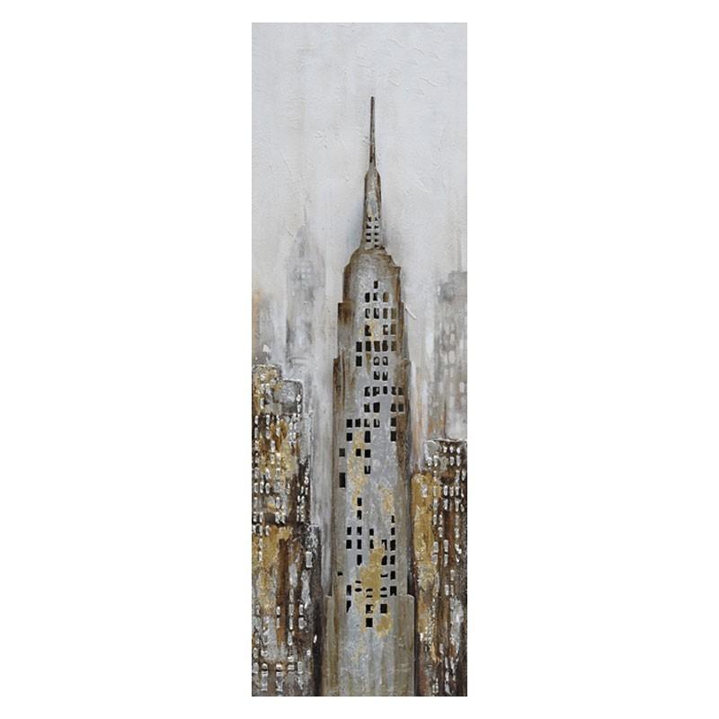 Tableau contemporain Empire state building 40x120.