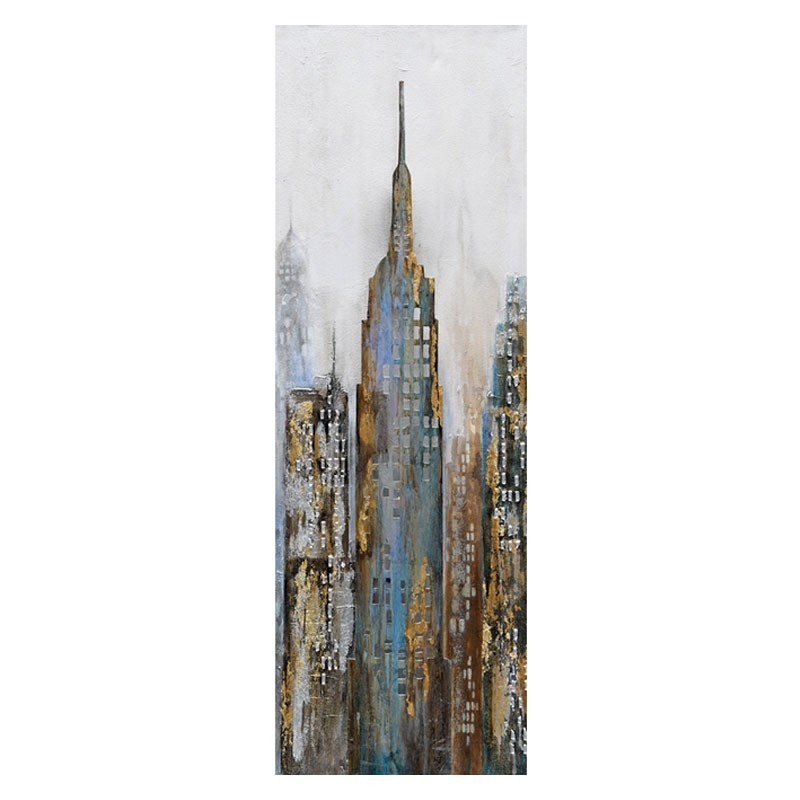 Tableau urbain Empire state building 40x120.