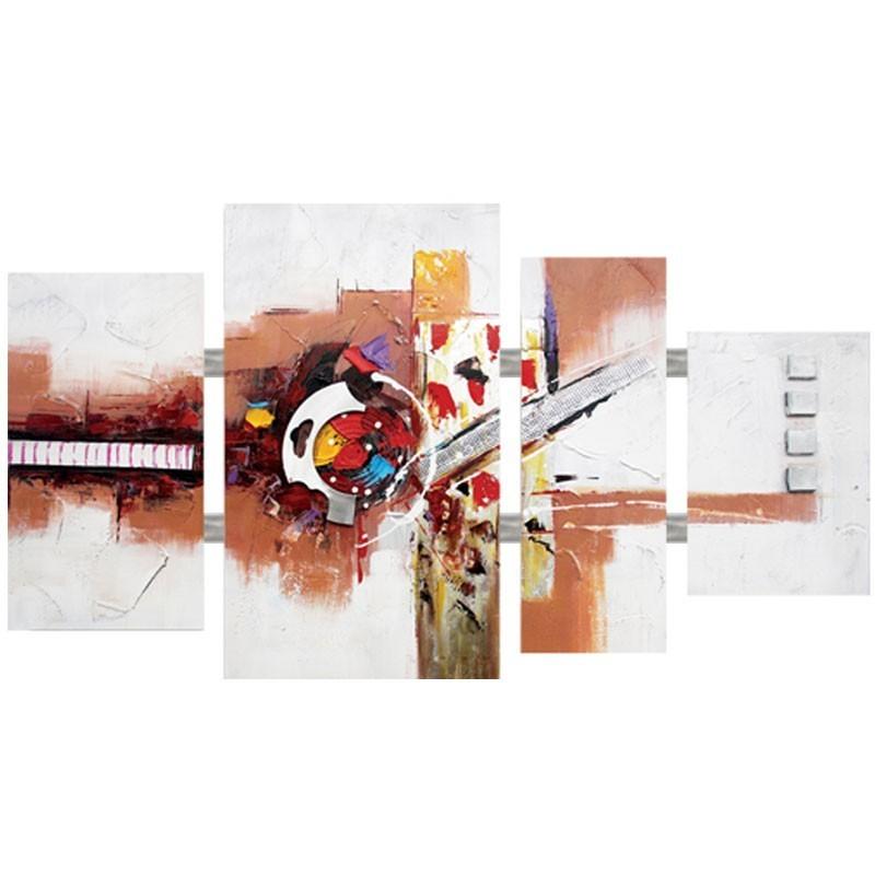 Tableau triptyque abstrait 70x124