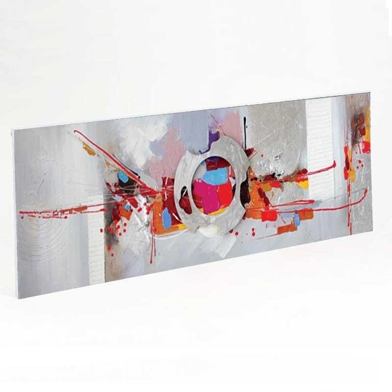 """"""" Explosion de couleurs """",tableau contemporain abstrait  50x150."""