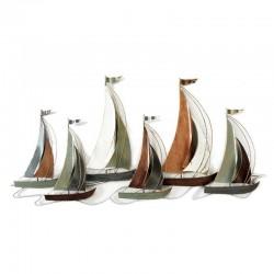 décoration murale métal voiliers bateaux