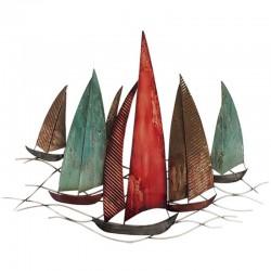 décoration murale métal bateaux voiliers