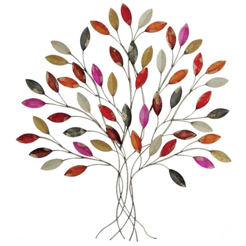 d coration murale en m tal arbre ffil feuilles fines et. Black Bedroom Furniture Sets. Home Design Ideas
