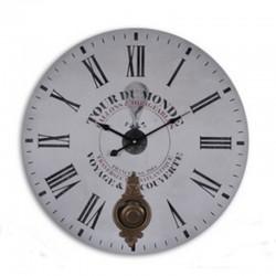 """Horloge murale balancier 58cm """"Tour du monde"""""""
