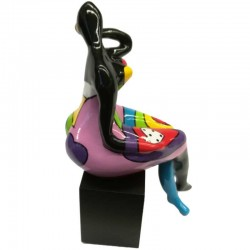""""""" Grain de folie"""", Happy, statuette design de Déesse"""