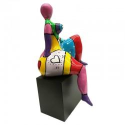 "Sculpture femme ronde Déesse DIVA "" My dream """