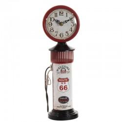 "Horloge vintage "" Pompe à essence""rouge"