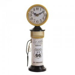 "Horloge vintage "" Pompe à essence"" jaune"