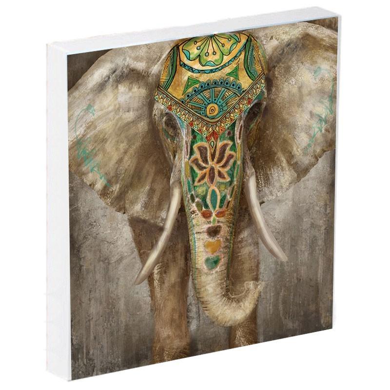 Tableau contemporain ELEPHANT 80x80